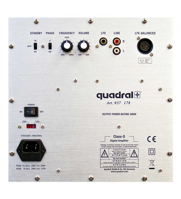 Quadral Qube 12 back